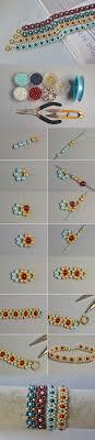 colored pearl bracelet images Making fresh colored pearl beaded flower bracelets seed bead jpg
