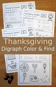 free no prep thanksgiving digraph find color for beginning