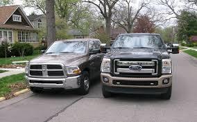 dodge ram vs f250 2011 ford f 250 duty vs 2010 ram 2500 hd driving