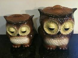 28 owl canisters vintage owl canister set rare vintage