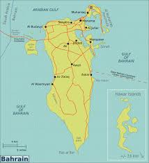 map of bahrain large map of bahrain with roads cities and airports bahrain