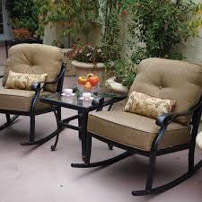 Outdoor Dining Patio Furniture by Darlee Nassau 3 Piece Cast Aluminum Patio Conversation Seating Set
