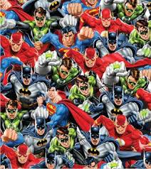 comic wrapping paper justice league gift wrap batman poppyseed