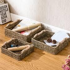 bathroom boxes baskets bakery desktop storage box woven fabric storage basket bathroom