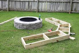 Build Backyard Fire Pit - furniture how to build outdoor fire pit with seating outdoor