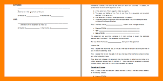 7 separation agreement template word simple cv formate