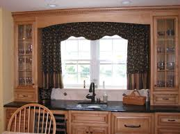 kitchen curtain ideas ceramic tile wall backsplash red paint