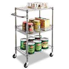 Metal Wire Storage Shelves 3 Tier Rolling Service Cart Metal Wire Storage Shelves Basket
