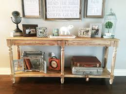 entry way table decor driftwood console table decorations console table driftwood