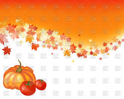autumn thanksgiving background vector clipart image 108149