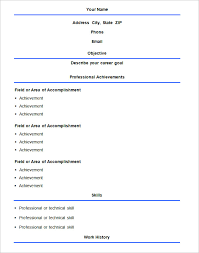 Resume Templates Examples Free Example Of Basic Resume Resume Formats Examples Legal Resume