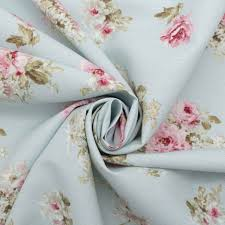 vintage chintz shabby roses print retro 100 cotton curtain
