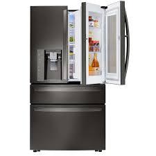 french door refrigerator prices lg 30cuft 4 door french door with instaview in black stainless steel