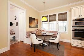 banquette with round table round dining table with banquette round designs