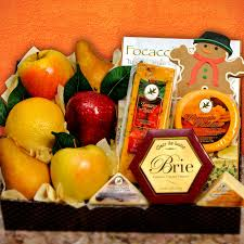 fruit and cheese gift baskets gingerbread fruit cheese gift basket