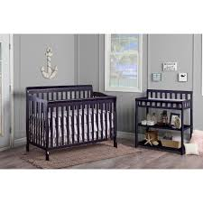 Davenport Nursery Furniture by Dream On Me Ashton 5 In 1 Convertible Crib Black Walmart Com