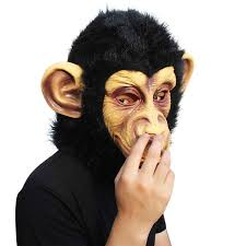monkey u2013 animal halloween head mask u2013 creepyparty head mask