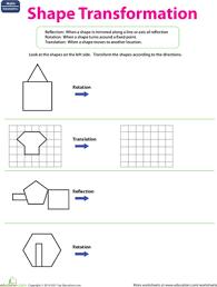 shape transformation worksheet education com