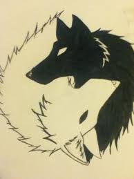 wolf yin yang by 715kibawolf on deviantart