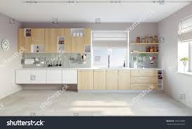 latest kitchen interior designs modern kitchen interior cg concept stock photo 190120085