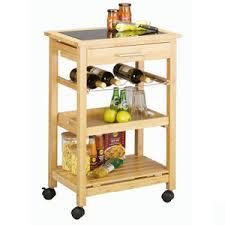 desserte de cuisine en bois à roulettes table avec rangement cuisine etagre de cuisine en bambou et inox