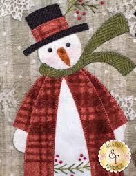 christmas snowmen wall hanging pre fused u0026 laser cut kit