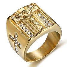 cross jewelry rings images Mimeng gold filled titanium jesus cross ring classic religious jpg