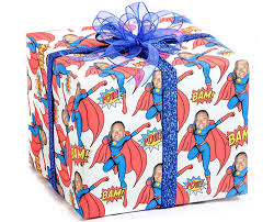 custom gift wrap we print personalized gift wrapping paper starring your