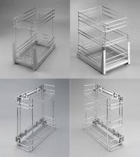Pull Out Wire Baskets Kitchen Cupboards by Gtv Roller Drawer Slides Runners Bottom Fix Metal White Ebay