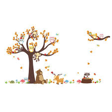 Owl Wall Sticker Popular Deer Wall Decals Buy Cheap Deer Wall Decals Lots From