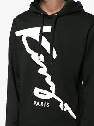 hoodie designer kenzo signature monochrome hoodie designer colour black qtjopcn
