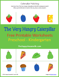 the very hungry caterpillar worksheets free printables the