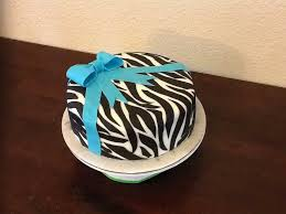 zebra stripe birthday cake made with fondant my cake creations