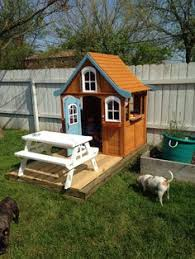 Backyard Cedar Playhouse by It Has A Little Sink And Stove Top Backyard Discovery Columbus