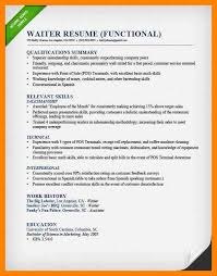Waiters Resume Sample by 4 Resume Sample For Waiter Resumes Great