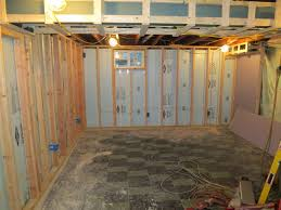 framing basement walls over insulation framing basement walls