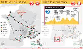 Tour De France Map by Tour De France Interactive Guide Visual Ly
