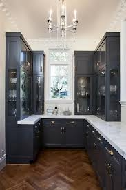 navy blue kitchen cabinets with black handles 25 trendy contrasting countertops for your kitchen digsdigs