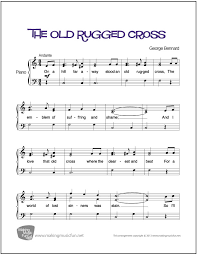 That Old Rugged Cross The Old Rugged Cross Easy Piano Sheet Music Digital Print