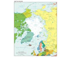 Azimuthal Map Maps Of Arctic Region Collection Of Detailed Maps Of Arctic