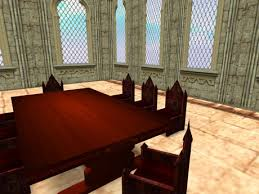 Gothic Dining Room Table by Second Life Marketplace