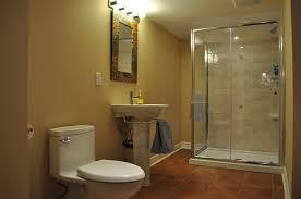 basement bathroom designs doorless shower basement bathroom ideas robinson decor