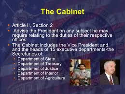 The President S Cabinet Includes The Executive Branch