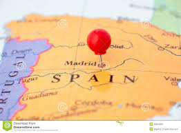 Map Of Spain Cities by Red Pushpin On Map Of Spain Royalty Free Stock Image Image 29855366