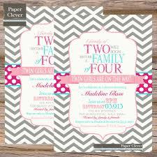 design twins baby shower invitation