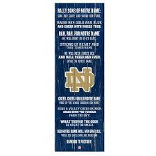 Notre Dame Desk Accessories Notre Dame Fight Song Wall 26 X 12 Shopko