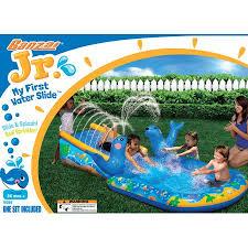 Backyard Water Slide Inflatable by Banzai My First Water Slide Inflatable Backyard Summer Aqua Fun