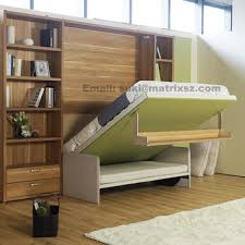 Wall Folding Bed Fold Down Sofa Wall Bed Wall Bed With Sofa And Bookshelf Space