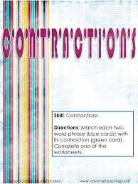 contractions activities have fun teaching