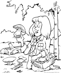 scouting color coloring pages kids family